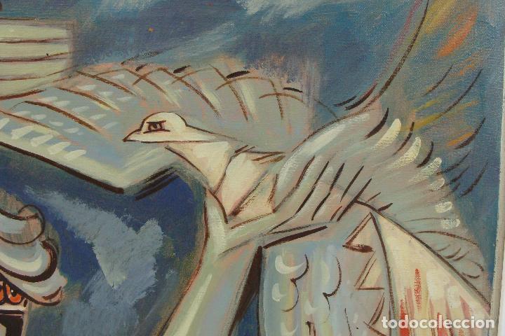 Arte: Óleo sobre lienzo - Firmado - Siglo XX - Foto 5 - 102346995
