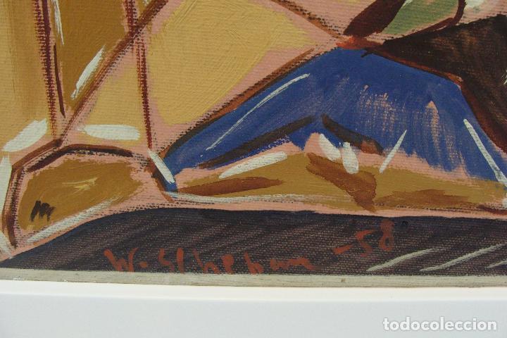 Arte: Óleo sobre lienzo - Firmado - Siglo XX - Foto 3 - 102347115