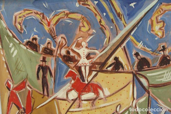 Arte: Óleo sobre lienzo - Firmado - Siglo XX - Foto 4 - 102347115