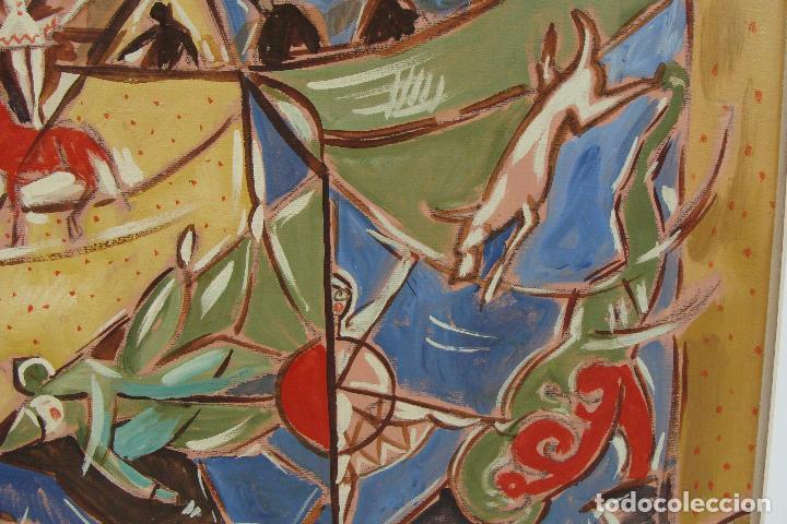 Arte: Óleo sobre lienzo - Firmado - Siglo XX - Foto 5 - 102347115