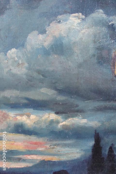 Arte: Óleo sobre lienzo Paisaje Marinero - Siglo XX - Foto 2 - 102348043