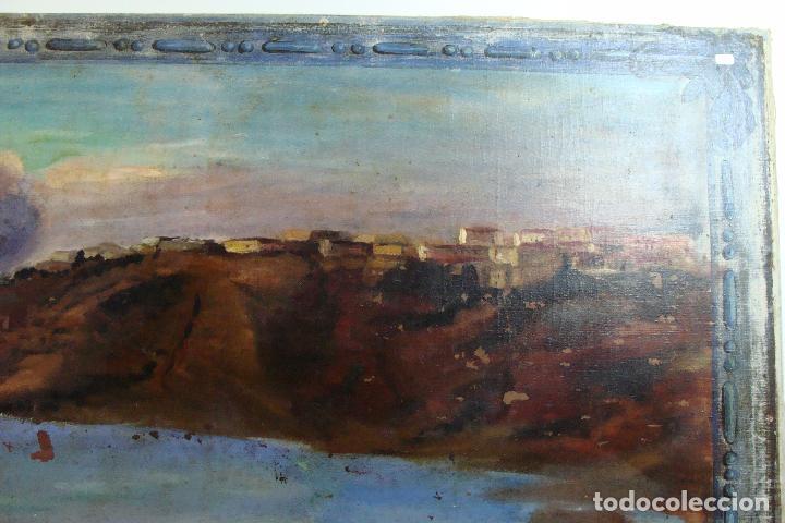 Arte: Óleo sobre lienzo Paisaje Marinero - Siglo XX - Foto 3 - 102348043