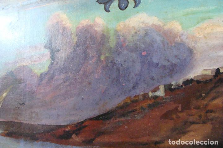 Arte: Óleo sobre lienzo Paisaje Marinero - Siglo XX - Foto 8 - 102348043