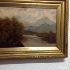 Arte: PAISAJE BRITANICO VICTORIANO, OLEO .RIO LUDWIG(WALES) 1906. Lote 102377483