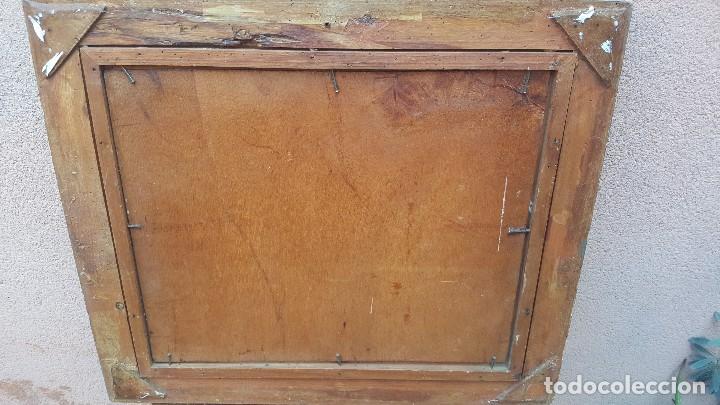 Arte: Oleo sobre tabla.ramon trulls pons.1950.sello sala gaspar.buen momento del pintor. - Foto 6 - 102379431