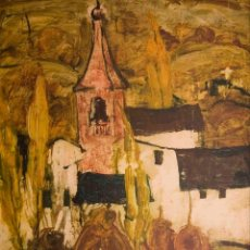 Arte: ÓLEO DEL CONOCIDO ARTISTA VASCO, RESIDENTE EN NAVARRA, JESUS MONTES IRIBARREN. Lote 97790579