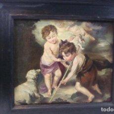 Arte: ÓLEO PEGADO SOBRE TABLA - COPIA DE MURILLO - SIGLO XX. Lote 102433671