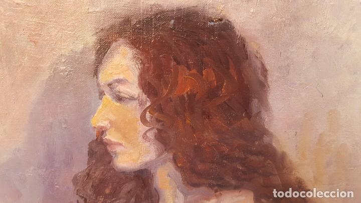 Arte: Oleo sobre tela firmado j. Moral.retrato. - Foto 2 - 102468043