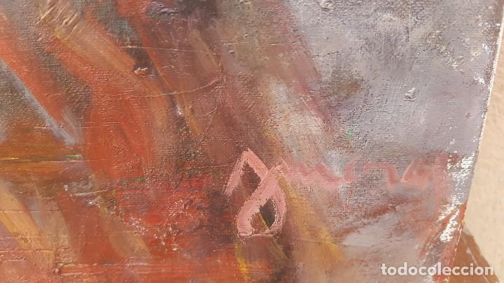 Arte: Oleo sobre tela firmado j. Moral.retrato. - Foto 6 - 102468043