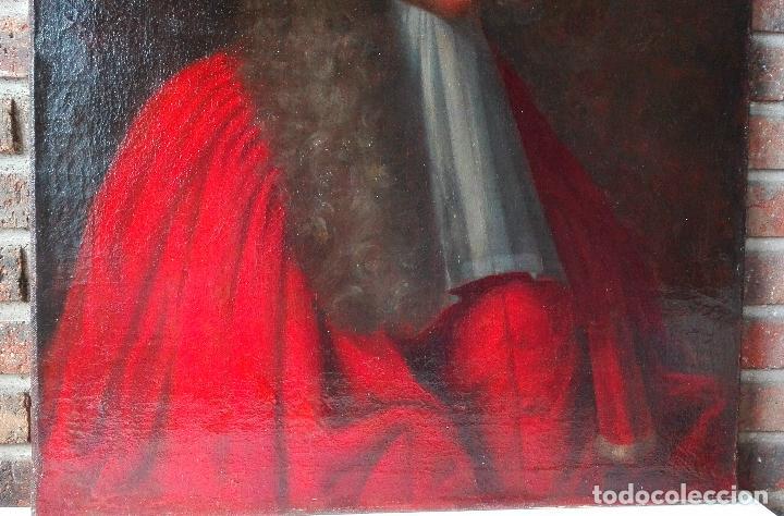 Arte: Cuadro Escuela Francesa. Magistrado. Siglo XVIII. Oleo sobre Lienzo. - Foto 5 - 158204697
