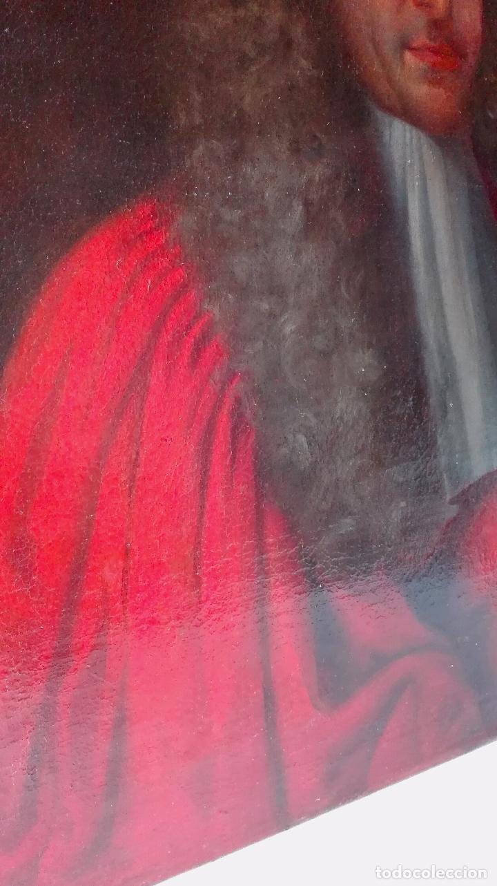 Arte: Cuadro Escuela Francesa. Magistrado. Siglo XVIII. Oleo sobre Lienzo. - Foto 10 - 158204697
