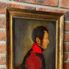Arte: RETRATO DE MILITAR DEL PRIMER IMPERIO. SIGLO XIX. FRANCIA. ÓLEO SOBRE LIENZO.. Lote 72982107