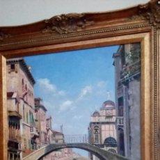 Arte: CANAL VENECIANO, VENECIA, OLEO SOBRE TELA. Lote 102518358