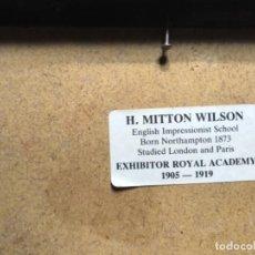Arte: ÓLEO DE H.MITTON WILSON. Lote 102542019