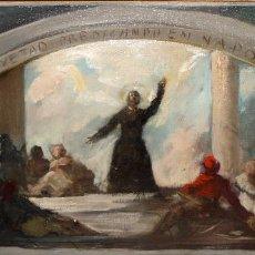 Arte: ESCUELA ESPAÑOLA DE FINALES DEL SIGLO XIX. OLEO SOBRE TELA. AUTOR ANONIMO. SAN CAYETANO PREDICANDO. Lote 102595691