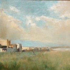 Arte: JOSEP PAGES ORTIZ (GIRONA, C. 1870 - BUENOS AIRES, 1902) OLEO SOBRE TELA.. Lote 102606427