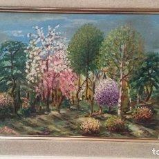 Arte: PAISAJE OLEO SOBRE TABLA.. Lote 102639939