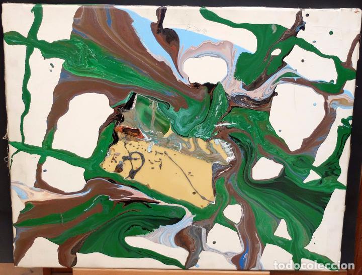 DOMINGO CHINCHILLA RODRIGUEZ (MADRID, 1961) TECNICA MIXTA SOBRE TELA FECHADO DEL 1993 . ABSTRACCION (Arte - Pintura - Pintura al Óleo Contemporánea )