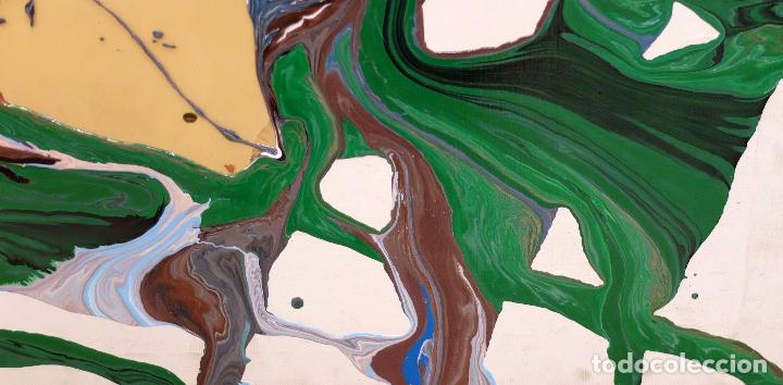 Arte: DOMINGO CHINCHILLA RODRIGUEZ (Madrid, 1961) TECNICA MIXTA SOBRE TELA FECHADO DEL 1993 . ABSTRACCION - Foto 3 - 102642495