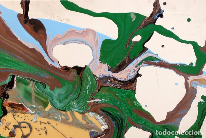 Arte: DOMINGO CHINCHILLA RODRIGUEZ (Madrid, 1961) TECNICA MIXTA SOBRE TELA FECHADO DEL 1993 . ABSTRACCION - Foto 4 - 102642495