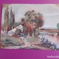 Arte: MAGNIFICA ACUARELA CALIDAD FIRMADA . Lote 102645759