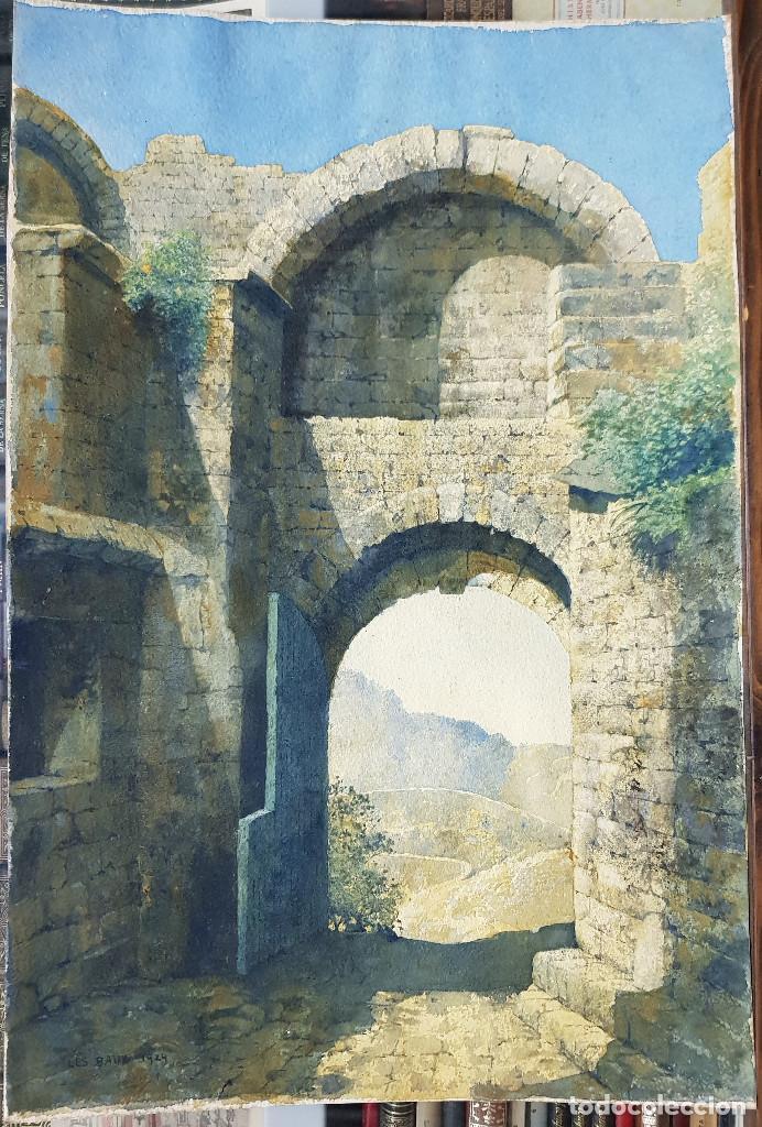 OLEO SOBRE PAPEL - 1929 - 53X35 (Arte - Pintura - Pintura al Óleo Contemporánea )