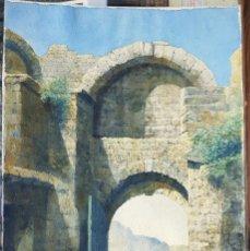 Arte: OLEO SOBRE PAPEL - 1929 - 53X35. Lote 102670071