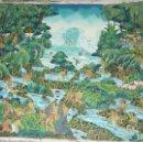 Arte: PINTURA MINIATURISTA DE LA ISLA DE BALI. SOBRE TELA. TAMAÑO DE 34X46 CM.. Lote 102681035