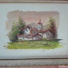 Arte: PAISAJE AL ÓLEO SOBRE TABLA FIRMADO SELLER MEDIDAS 23 X 18. Lote 102686270