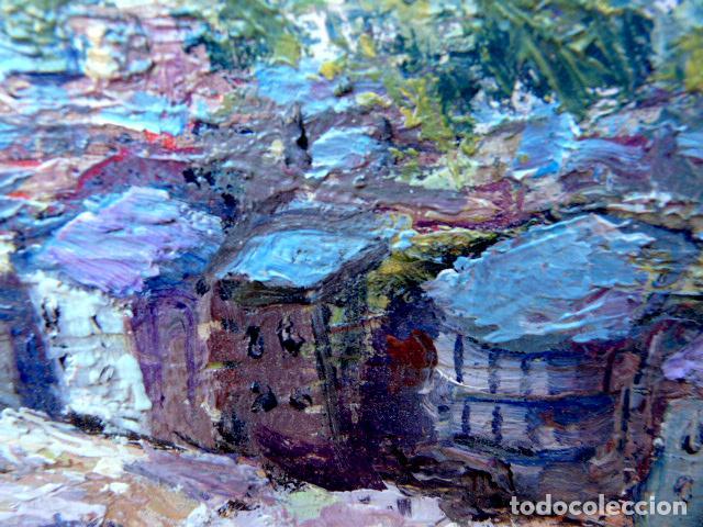 Arte: óleo sobre táblex.Escuela catalana.anónimo.buen trazo.pirineo - Foto 4 - 102743391
