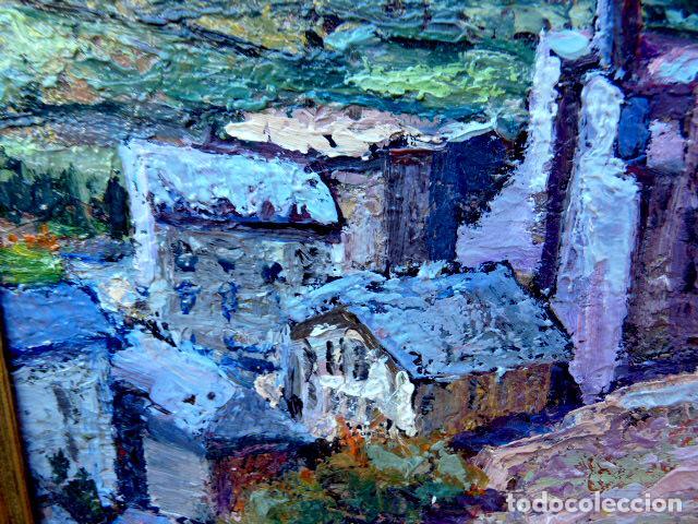 Arte: óleo sobre táblex.Escuela catalana.anónimo.buen trazo.pirineo - Foto 5 - 102743391