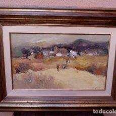 Arte: ÓLEO SOBRE TELA.CARLOS PUENTE GONZALEZ(MADRID 1932-2000).BIEN ENMARCADO. Lote 102745967