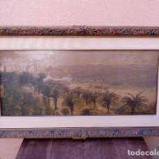 Arte: ÓLEO DE SITGES, REENTELADO.ESCUELA CATALANA.ANONIMO.MAESTRO.FINAL DE SIGLO XIX PRINCIPIO XX. Lote 102746631
