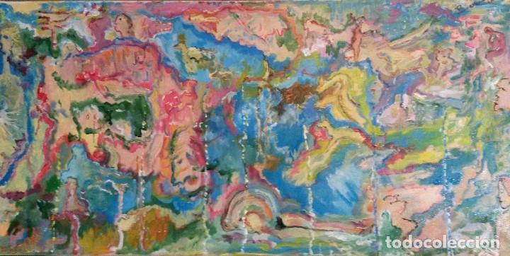 CUADRO PINTURA IMPRESIONISTA -ABSTRACTA , ACRILICO SOBRE LIENZO FIRMADO (Arte - Pintura - Pintura al Óleo Contemporánea )