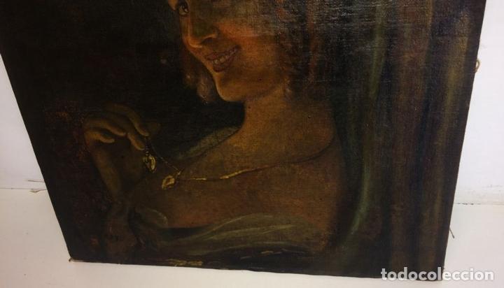 Arte: RETRATO DE JOVEN DAMA. ÓLEO SOBRE TELA. ESCUELA CATALANA. ESPAÑA. CIRCA 1850 - Foto 7 - 102930571