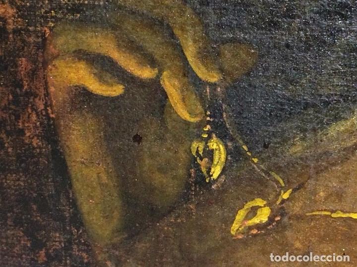 Arte: RETRATO DE JOVEN DAMA. ÓLEO SOBRE TELA. ESCUELA CATALANA. ESPAÑA. CIRCA 1850 - Foto 10 - 102930571