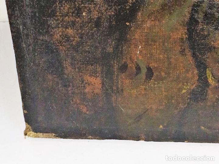 Arte: RETRATO DE JOVEN DAMA. ÓLEO SOBRE TELA. ESCUELA CATALANA. ESPAÑA. CIRCA 1850 - Foto 11 - 102930571