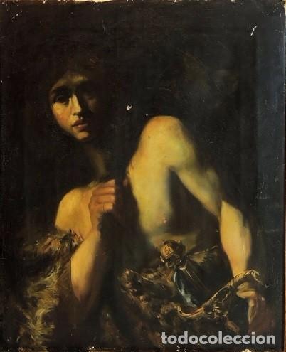 CUADRO ESCUELA ITALIANA - DAVID. SIGLO XIX. ANÓNIMO (Arte - Pintura - Pintura al Óleo Moderna siglo XIX)
