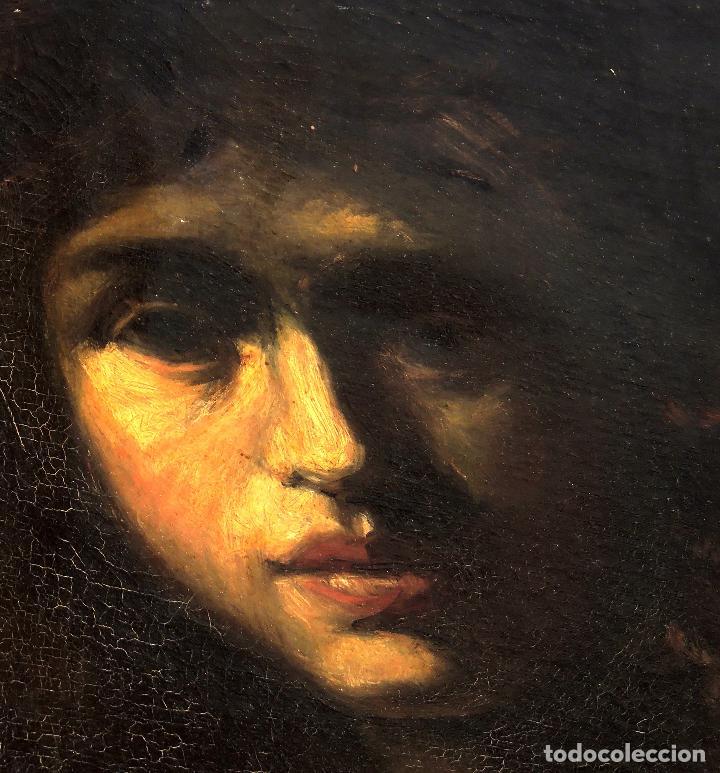 Arte: Cuadro Escuela Italiana - David. Siglo XIX. Anónimo - Foto 2 - 102941431