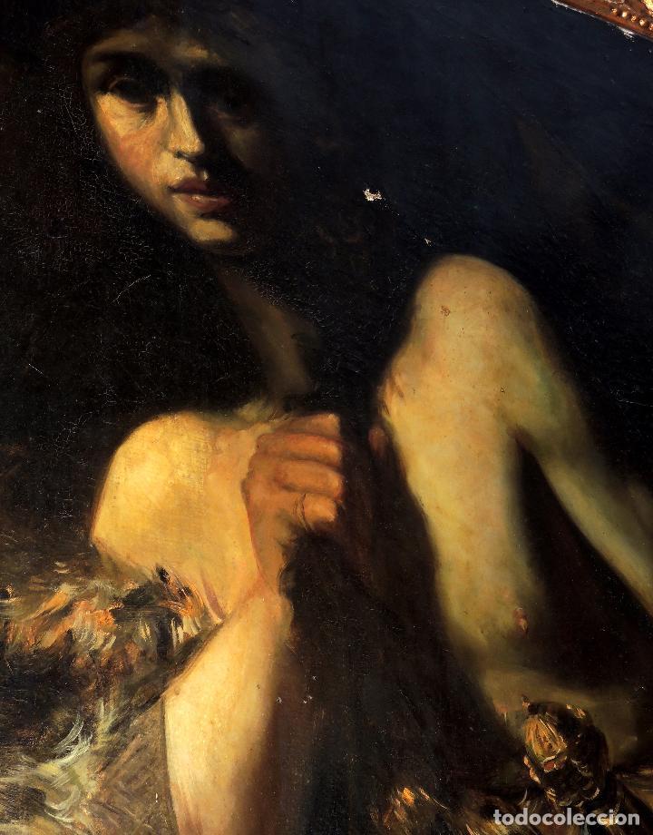 Arte: Cuadro Escuela Italiana - David. Siglo XIX. Anónimo - Foto 3 - 102941431
