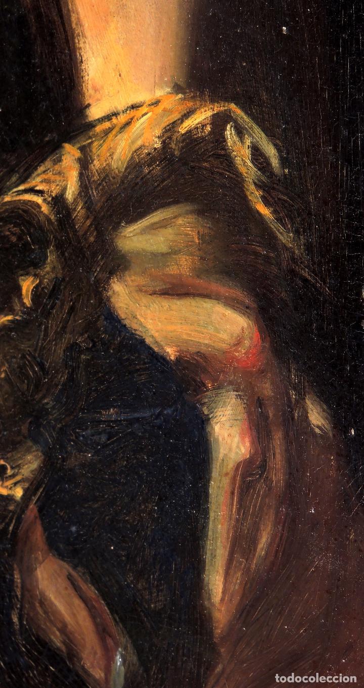Arte: Cuadro Escuela Italiana - David. Siglo XIX. Anónimo - Foto 4 - 102941431