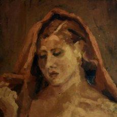 Arte: DESNUDO FEMENINO. PINTURA AL ÓLEO. SOBRE MADERA. ANÓNIMO. ESPAÑA. XIX-XX. Lote 102949127