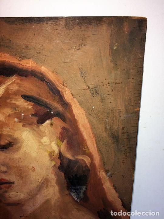Arte: DESNUDO FEMENINO. PINTURA AL ÓLEO. SOBRE MADERA. ANÓNIMO. ESPAÑA. XIX-XX - Foto 3 - 102949127