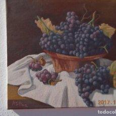 Arte: BODEGON CON RAMOS DE UVAS. Lote 102954599