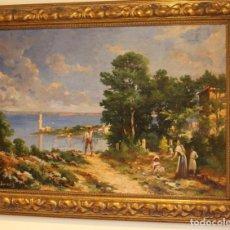 Arte: PINTURA MALLORQUINA - JOAN BAUZÁ GUANYABENS (1886 - 1944) - PORTO PI. Lote 103089399