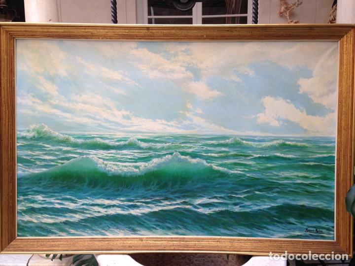 Arte: Ramón Reina, pintor malagueño, óleo sobre lienzo, marina - Foto 2 - 103109052