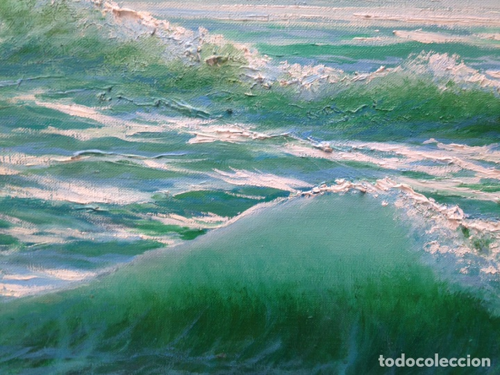Arte: Ramón Reina, pintor malagueño, óleo sobre lienzo, marina - Foto 4 - 103109052