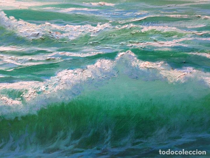Arte: Ramón Reina, pintor malagueño, óleo sobre lienzo, marina - Foto 6 - 103109052