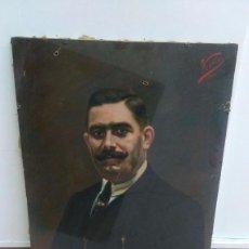 Arte: ANTIGUO ÓLEO SOBRE LIENZO, RETRATO HOMBRE 1927 VENTURA. Lote 103146423