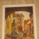 Arte: PINTURA ACRILICA SOBRE CARTON. RENATO.. Lote 103328963